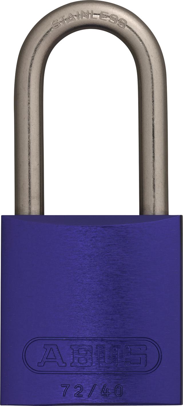 Vorhangschloss Aluminium 72IB/40HB40 lila vs.