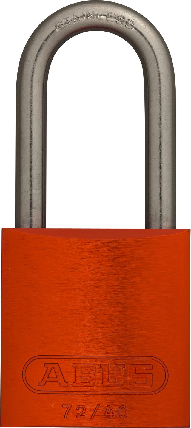 Vorhangschloss Aluminium 72IB/40HB40 orange gl.
