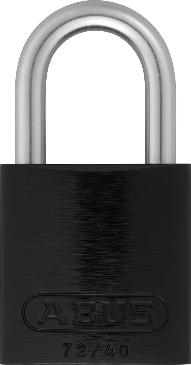 Vorhangschloss Aluminium 72LL/40 schwarz Lock-Tag