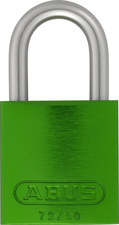 Vorhangschloss Aluminium 72LL/40 grün Lock-Tag