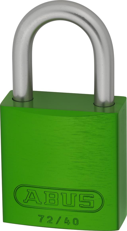 Vorhangschloss Aluminium 72LL/40 grün