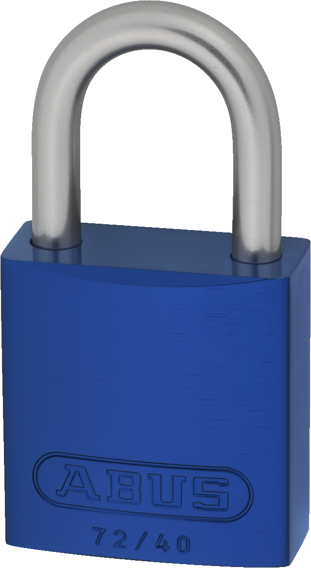 Vorhangschloss Aluminium 72LL/40 blau Lock-Tag