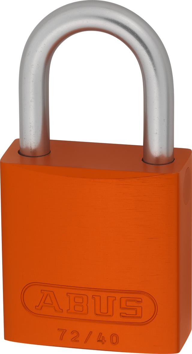 Vorhangschloss Aluminium 72LL/40 orange Lock-Tag