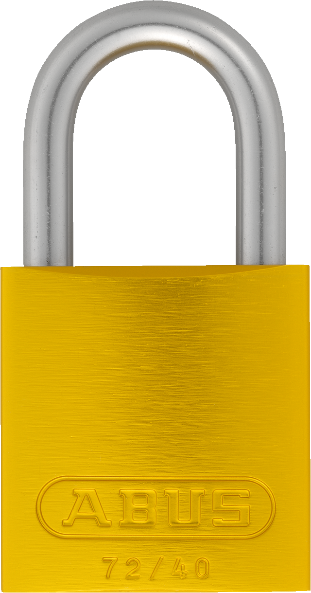 Vorhangschloss Aluminium 72LL/40 gelb Lock-Tag