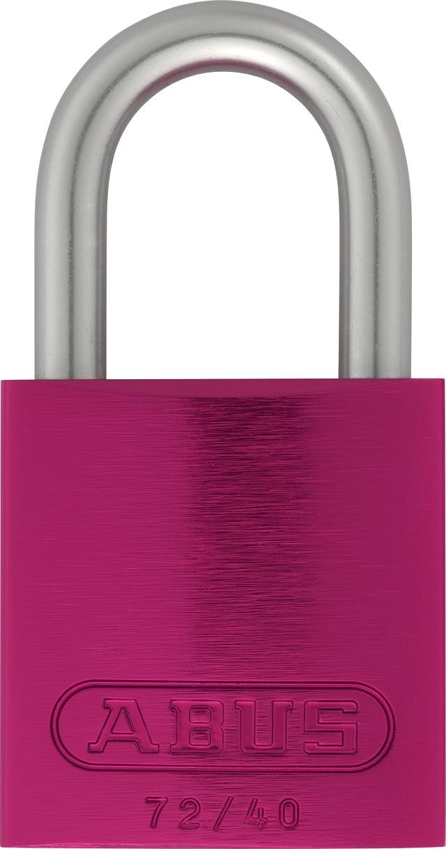 Vorhangschloss Aluminium 72LL/40 pink Lock-Tag