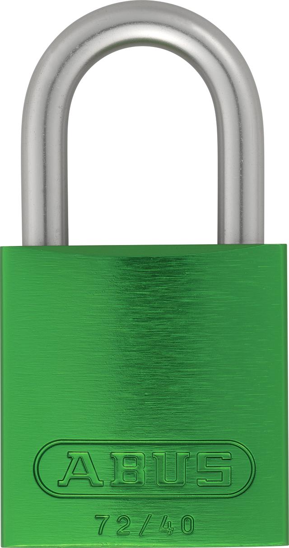 Vorhangschloss Aluminium 72LL/40 hellgrün Lock-Tag