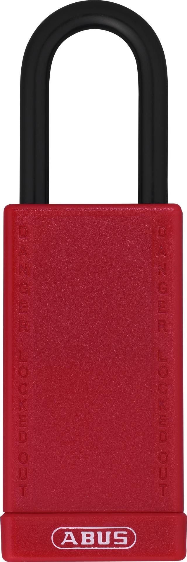 Vorhangschloss Aluminium 74LB/40 rot