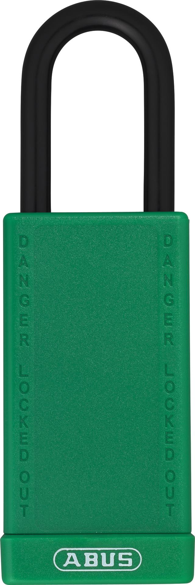 Vorhangschloss Aluminium 74LB/40 grün