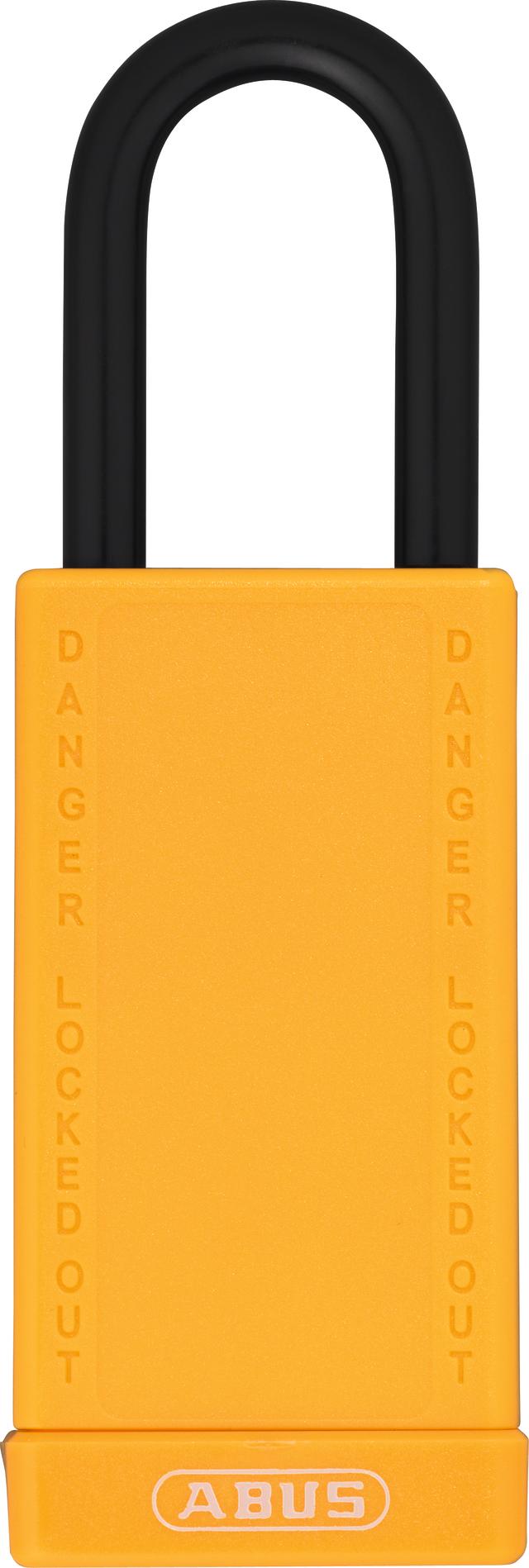 Vorhangschloss Aluminium 74LB/40 gelb
