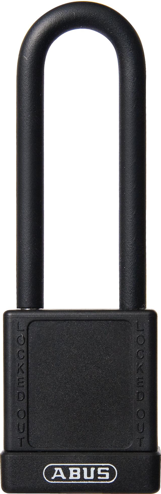 Vorhangschloss Aluminium 74/40HB75 schwarz