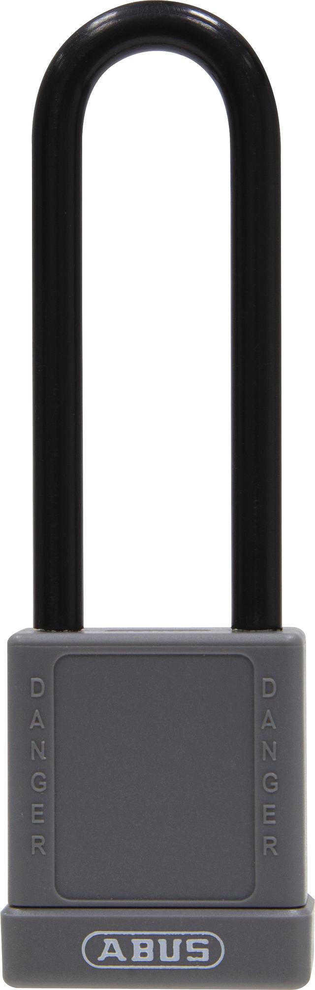 Vorhangschloss Aluminium 74/40HB75 grau