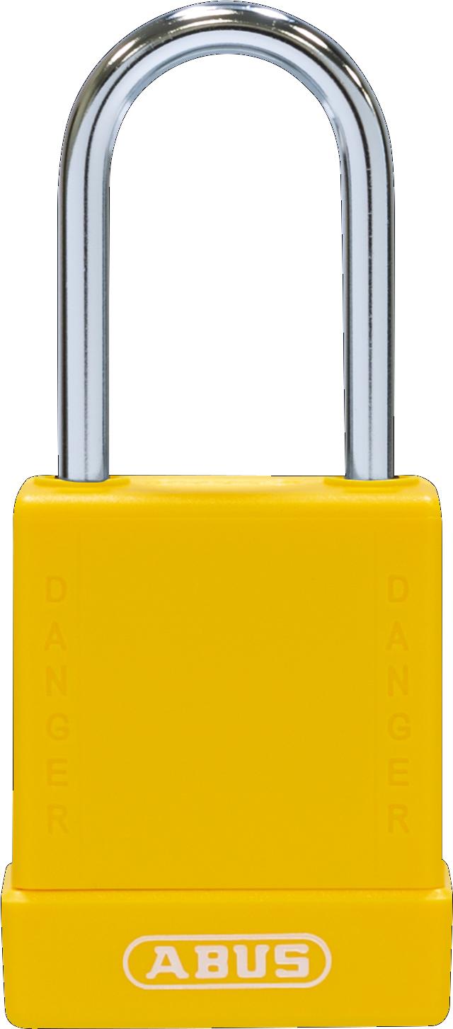 Vorhangschloss 76BS/40 gelb