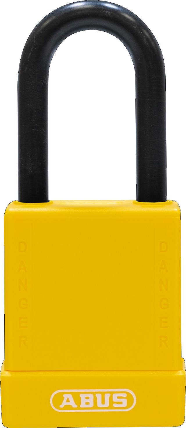 Vorhangschloss 76/40 gelb