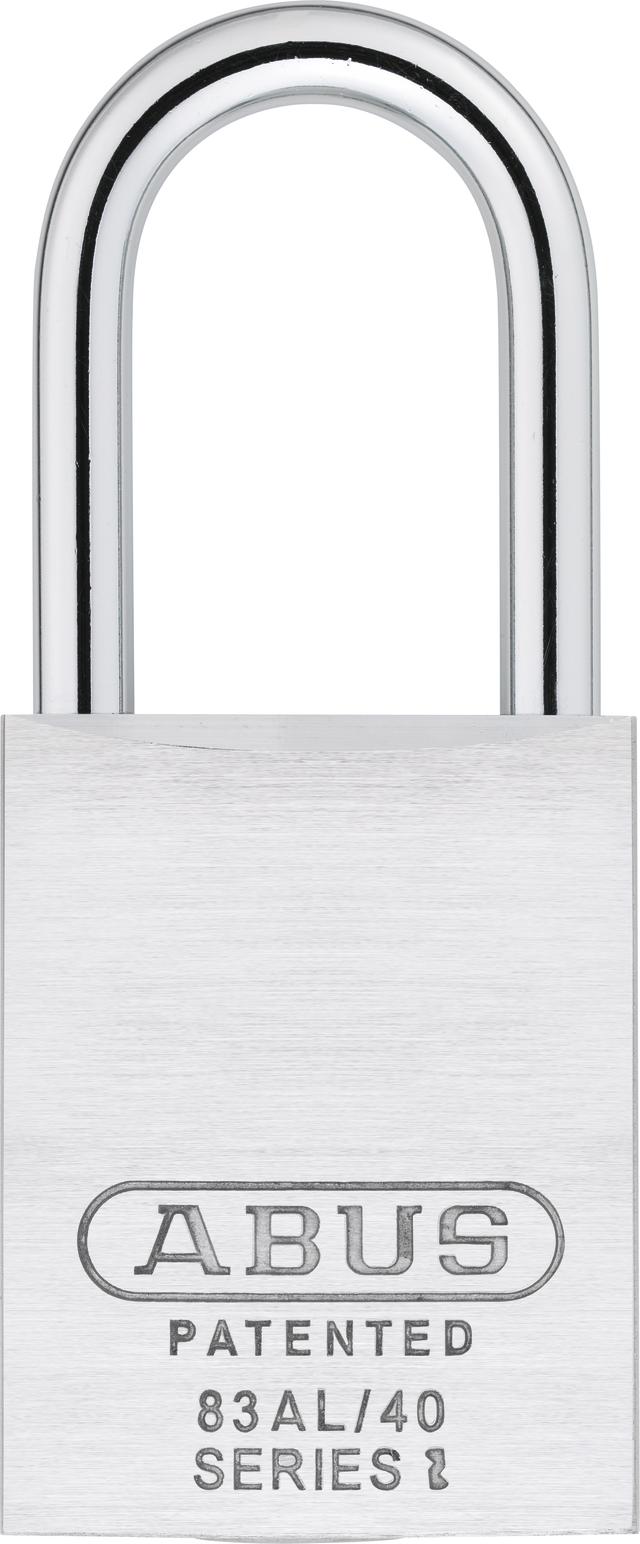 Vorhangschloss Aluminium 83ALIB/40HB75 silber Rückansicht