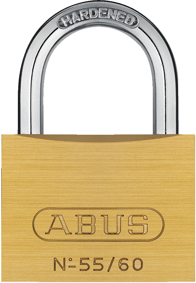 Padlock brass 55/60 front view