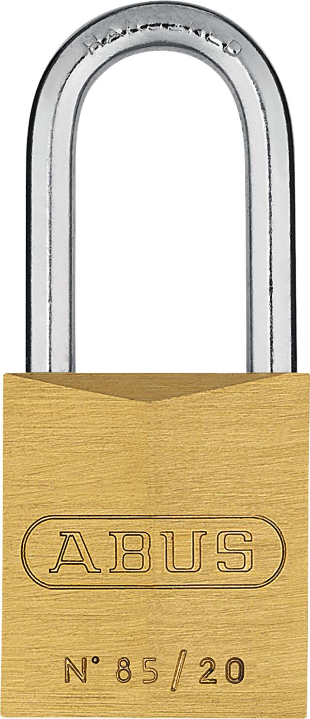Vorhangschloss Messing 85/20HB22 gl. lt. Muster/Code