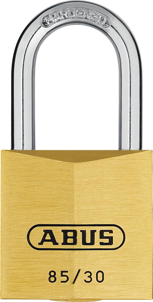 Vorhangschloss Messing 85/30HB24 gl. lt. Muster/Code