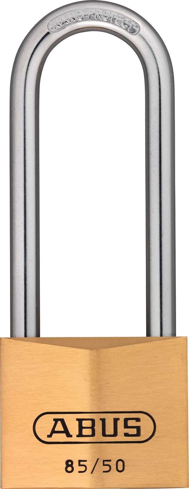 Vorhangschloss Messing 85WY/50HB80 vs.