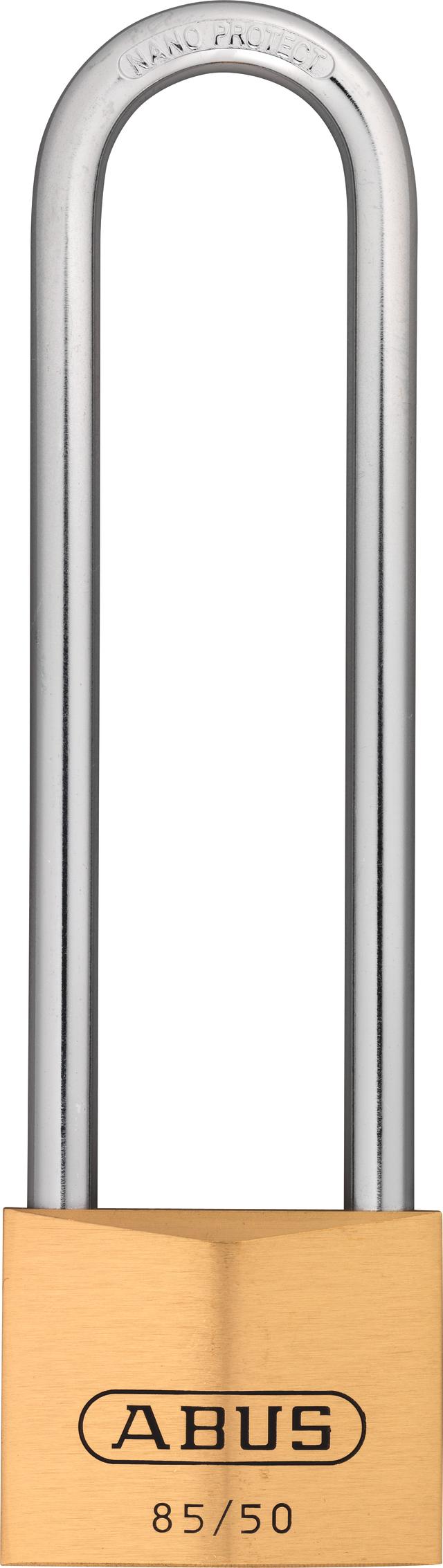 Vorhangschloss Messing 85/50HB127 gl. lt. Muster/Code