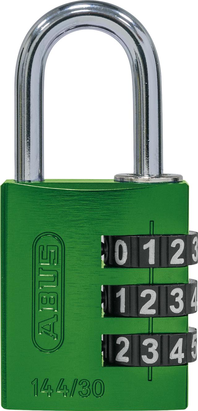 Zahlenschloss 144/30 grün B/SDKNFINPLCZHRUS