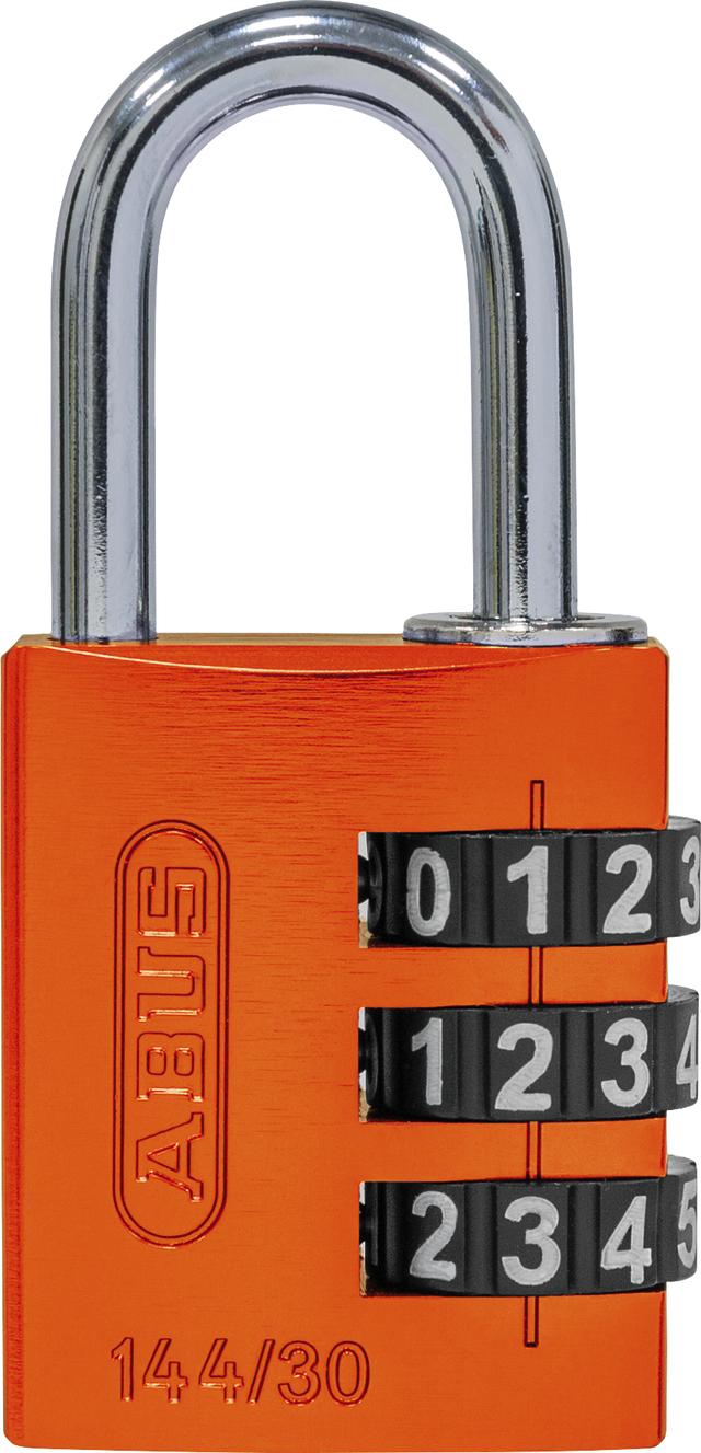 Zahlenschloss 144/30 orange B/SDKNFINPLCZHRUS