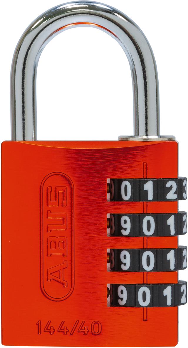 Zahlenschloss 144/40 orange B/SDKNFIN