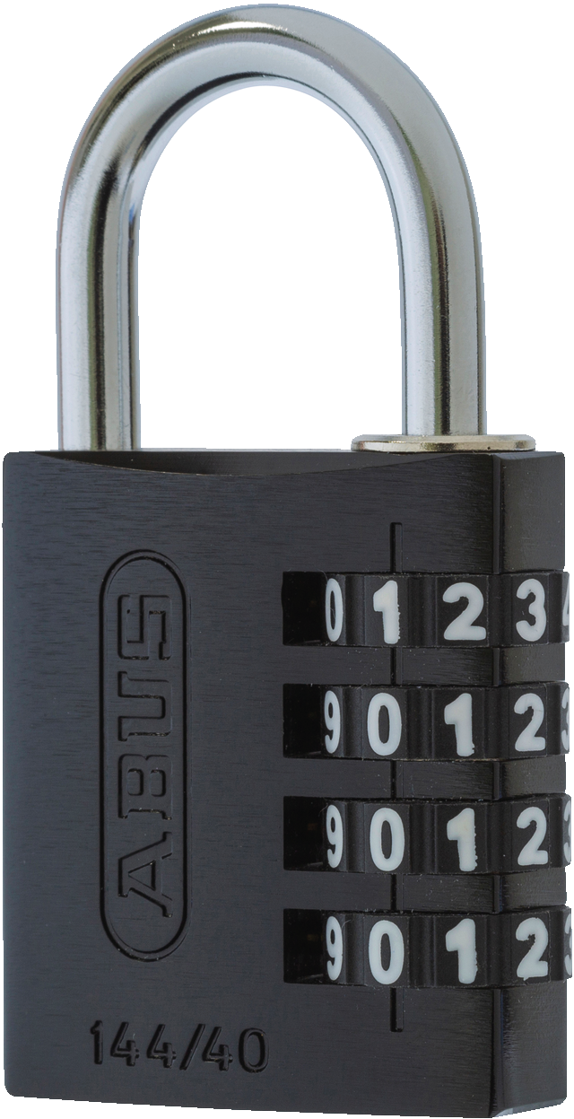 Zahlenschloss 144/40 schwarz Lock-Tag