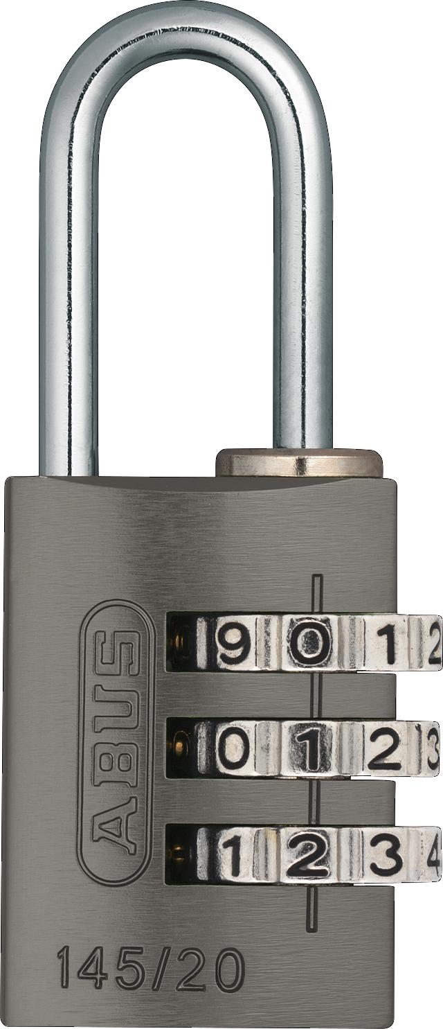 Zahlenschloss 145/20 titanium B/DFNLI