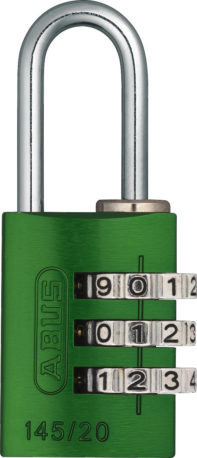 Zahlenschloss 145/20 grün B/DFNLI