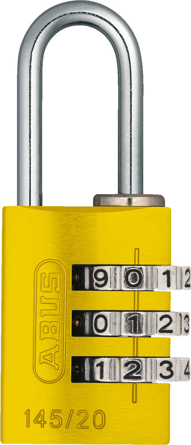 Zahlenschloss 145/20 gelb B/DFNLI
