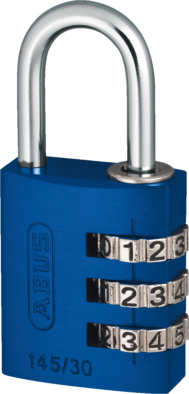 Zahlenschloss 145/30 blau mit EAN