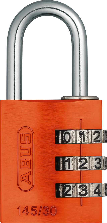 Zahlenschloss 145/30 orange mit EAN