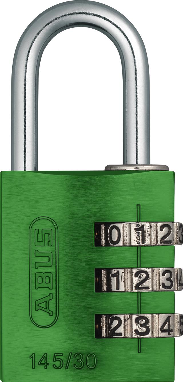 Zahlenschloss 145/30 grün mit EAN