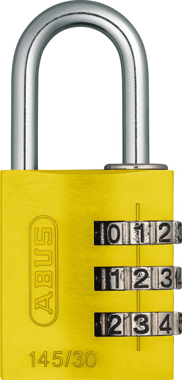 Zahlenschloss 145/30 gelb mit EAN