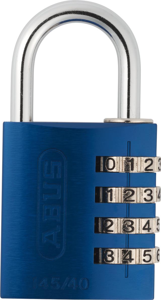 Zahlenschloss 145/40 blau mit EAN