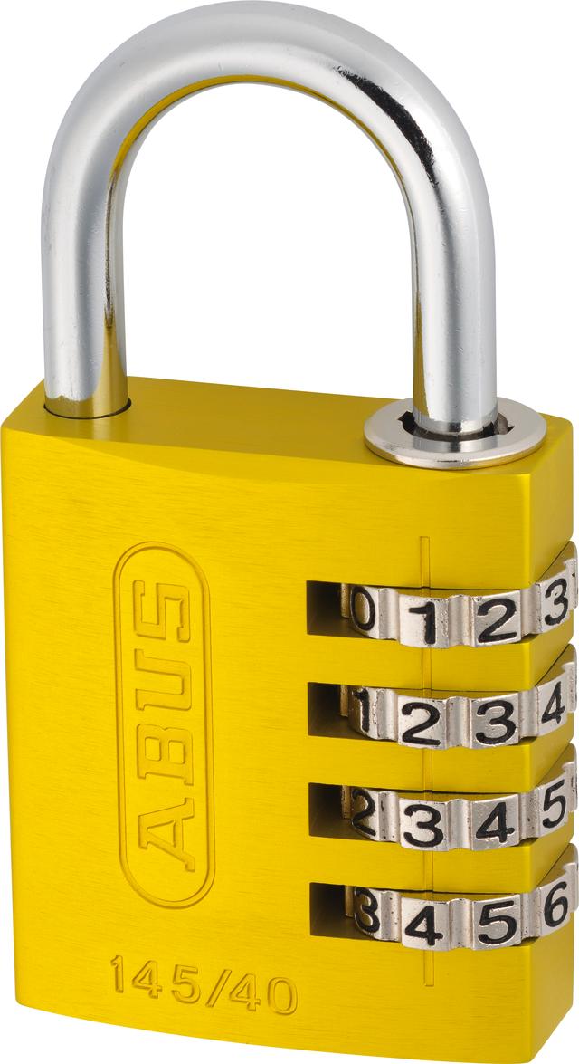 Zahlenschloss 145/40 gelb mit EAN
