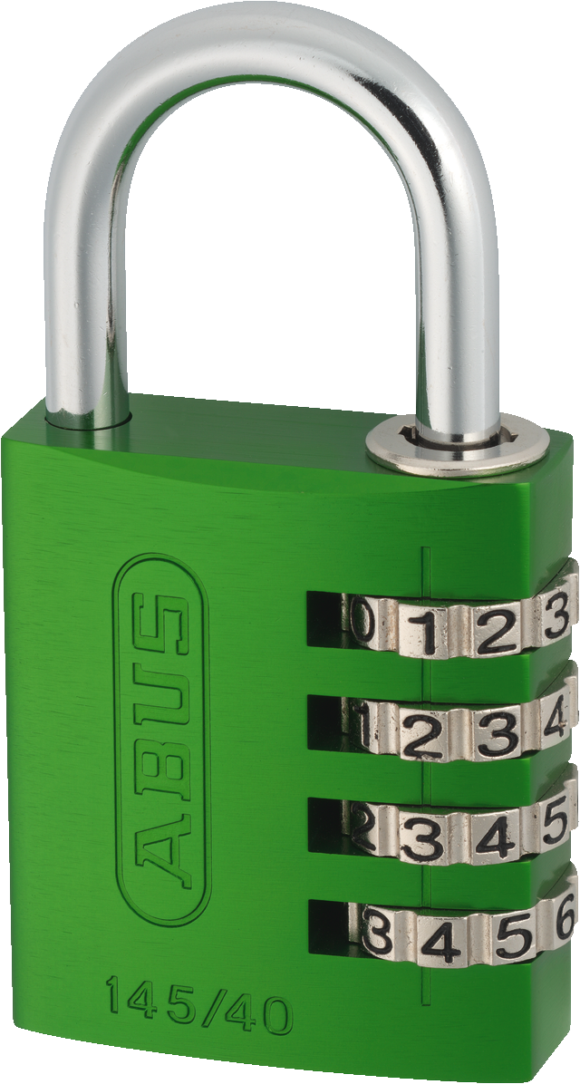 Zahlenschloss 145/40 grün mit EAN