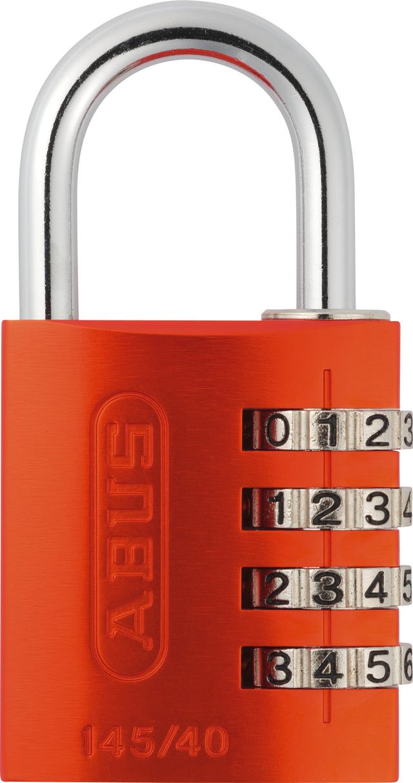 Zahlenschloss 145/40 orange mit EAN