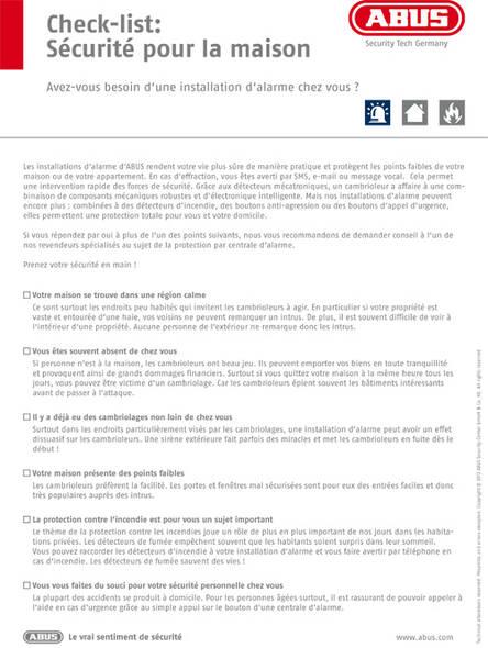 Check List Alarme Abus Reconna Tre Les Points Faibles