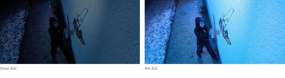Klare Bilder bei wechselnder Beleuchtung mit AGC (Automatic Gain Control) © ABUS