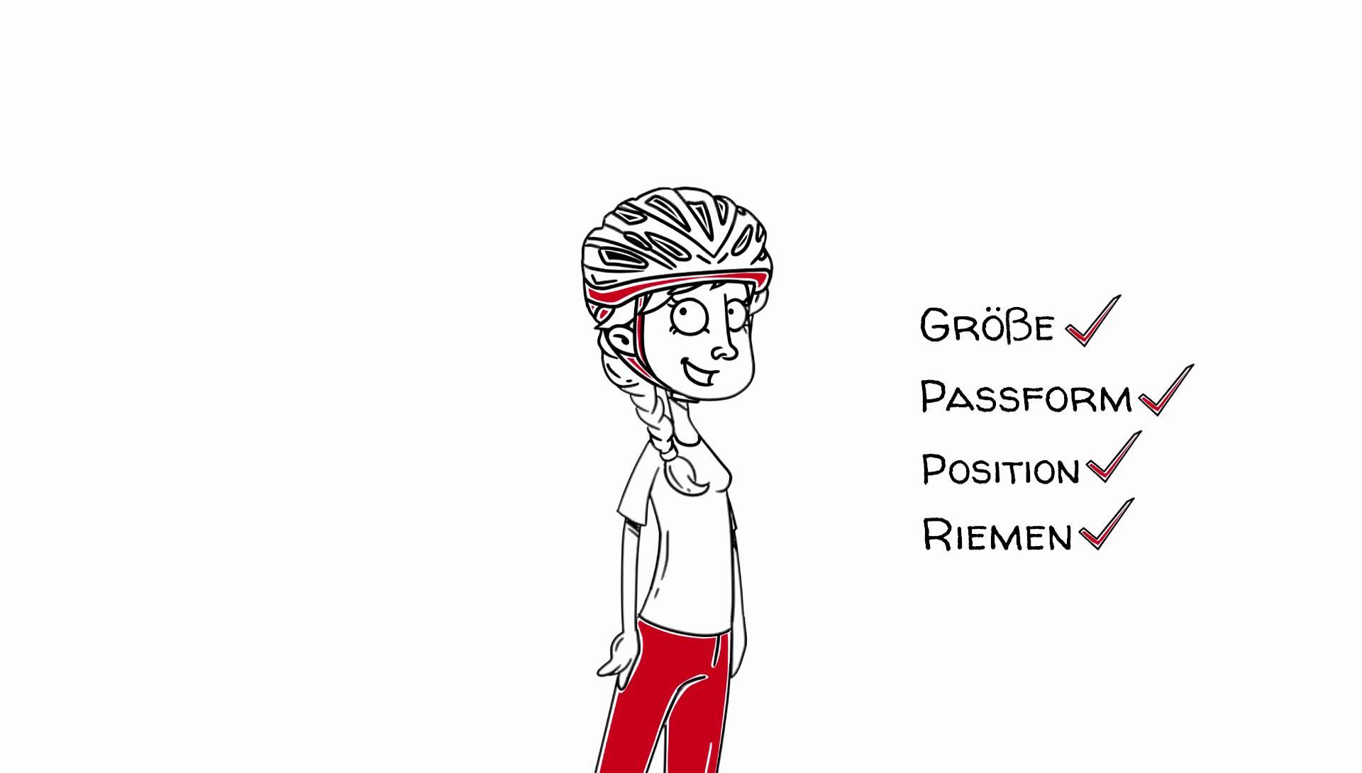 Wie sitzt der Fahrradhelm richtig